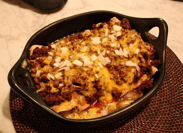 Chile Con Carne Enchiladas