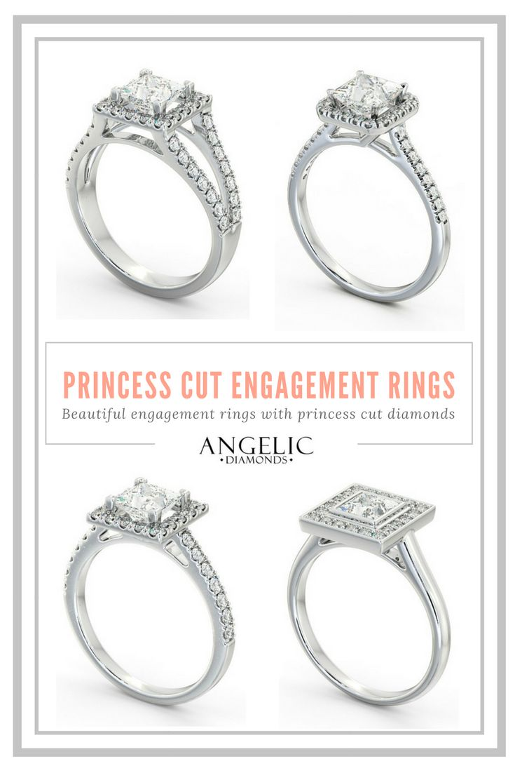 Get a beautiful princess cut engagement ring and customise it to make it 100% unique with #AngelicDiamonds. #Wedding#Engagement#Engaged#Diamond#Diamonds#Ring#Jewellery#Jewelry#DiamondRing#DiamondJewellery#DiamondJewelry#EngagementRing#GoldRing#GoldJewellery#PrincessCut
