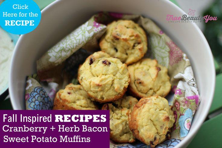 Cranberry & Herb Sweet Potato Muffins – True Beauty You