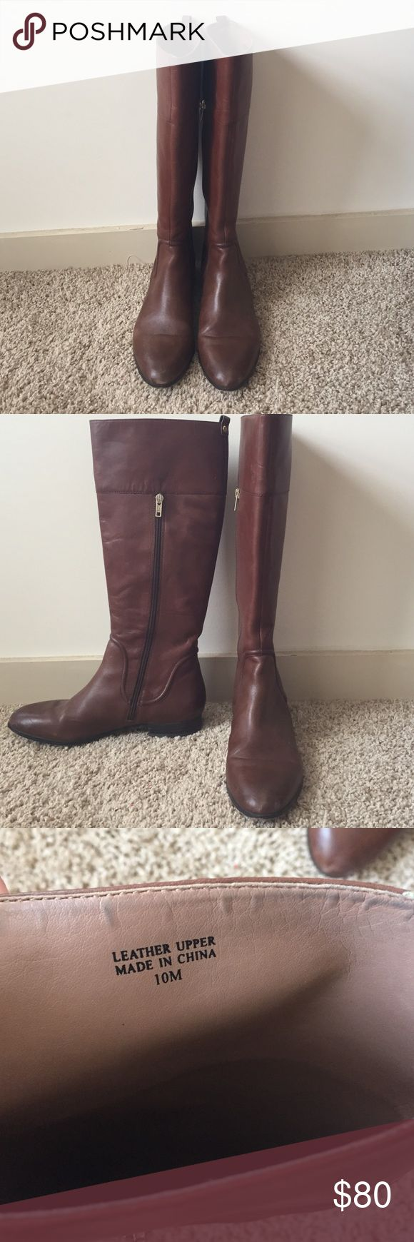 Ava and Aiden brown leather riding boots Gently used brown leather riding boots. These are very versatile and go with so many different things! Great fall boot! Shoes
