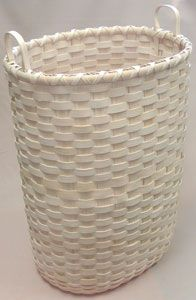 Personal Laundry Hamper Basket on Oblong Oval Base Pattern - by Wagner http://catalog.countryseat.com/personallaundryhamperbasketonoblongovalbase-bywagner.aspx