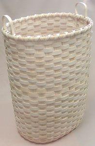 Personal Laundry Hamper Basket on Oblong Oval Base Pattern - by Wagner http://catalog.countryseat.com/personallaundryhamperbasketonoblongovalbase-bywagner.aspx