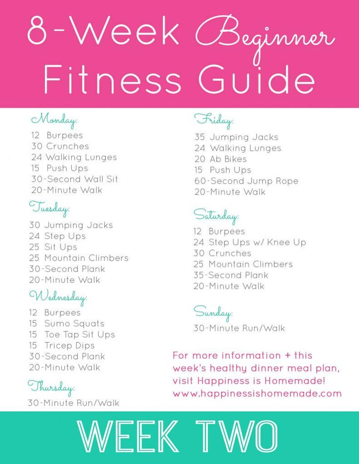 Beginner Fitness Jumpstart: Week 2