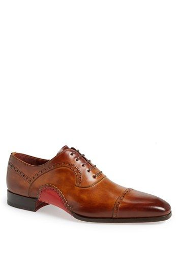 Free shipping and returns on Magnanni 'Cris' Cap Toe Oxford at Nordstrom.com. A cap toe polishes a brogue-detailed oxford handcrafted in Spain with Bologna construction, smoothly fusing the upper and sole for enhanced flexibility and comfort.