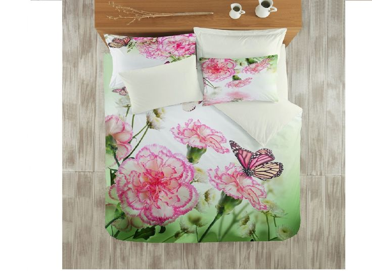 Lenjerii de pat Satinate : Lenjerie de pat bumbac satinat 3D Floral pentru 2 persoane | | Lenjerii de pat