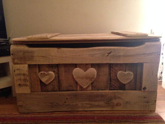 Blanket Box Chest Ottoman or Toy Box. by TyHapus on Etsy