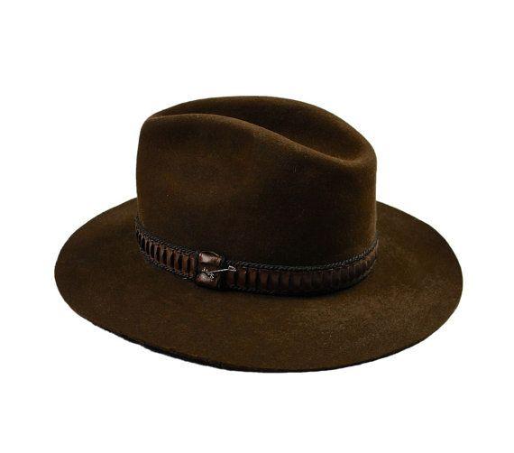 Vintage Brown Stetson XXX 3X Beaver Hat Size 7 by VintageMensGoods