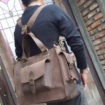 Kulit Asli Crazy Horse Briefcase-Backpack-Handbag-Messenger 007