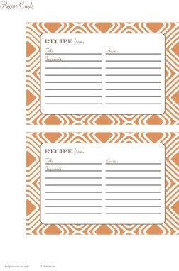 1000+ images about RECIPE CARDS & TEMPLATES on Pinterest ...