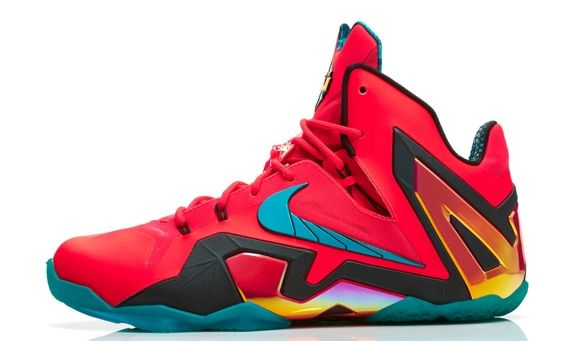 I wasn't a fan of the LeBron 11 Elite when it was released, but it's growing on me. Especially with crazy colorways like this one.