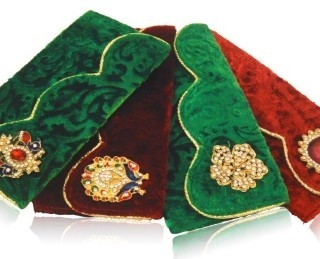 Velvet Shagun Envelops-With broche $16 .Set of 4 envelops are available . We are Supplying these Gift Items In Bulk Only