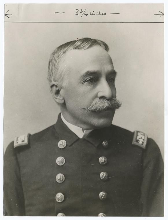 Admiral George Dewey.    When Dewey was fifteen years old he went to the Norwich Military School. The school, better known as Norwich University, had been founded by Alden Partridge and aimed at giving cadets a well-rounded military education.        http://en.wikipedia.org/wiki/George_Dewey
