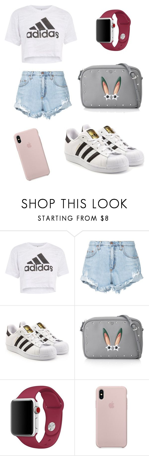 """""""Untitled #122"""" by devy-sapta on Polyvore featuring Topshop, Nobody Denim, adidas Originals and MCM"""