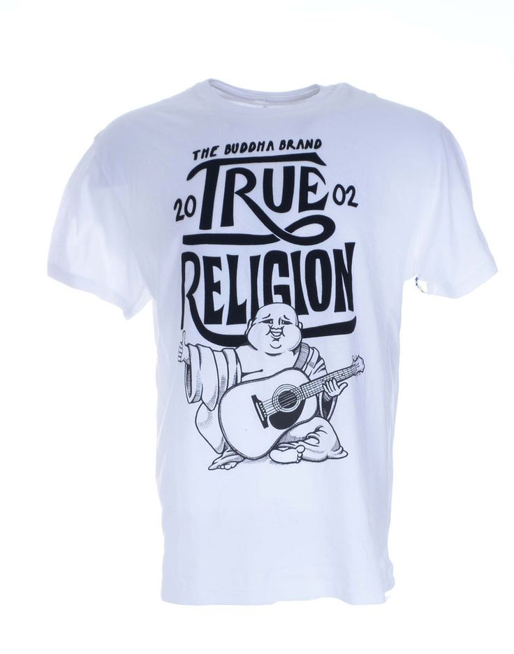True Religion Mens T-Shirt Size XL Upfront Budda in White NWT $62 #TrueReligion #GraphicTee