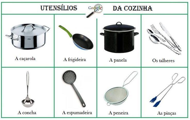 Utensílios da cozinha.