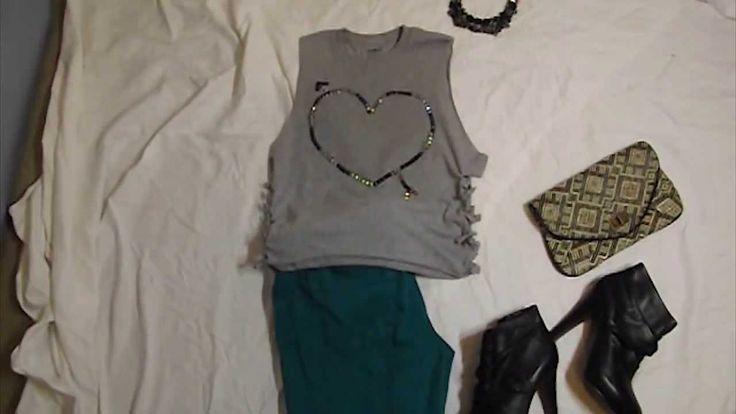 DIY T-shirt: Design Your Own TShirt. Fashion Styling DIY Tutorial (How to Style a Tshirt)