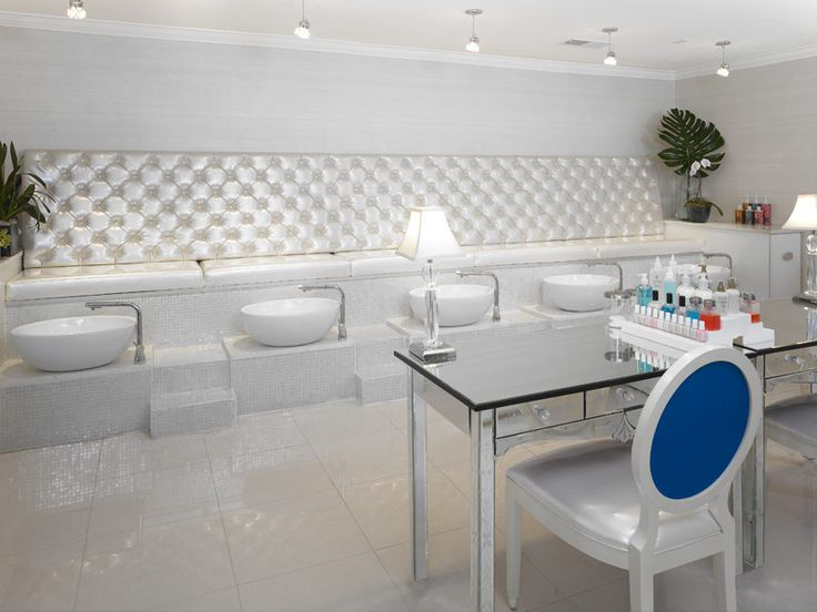 Pedicure bench spa concepts pinterest for Nail salon benches