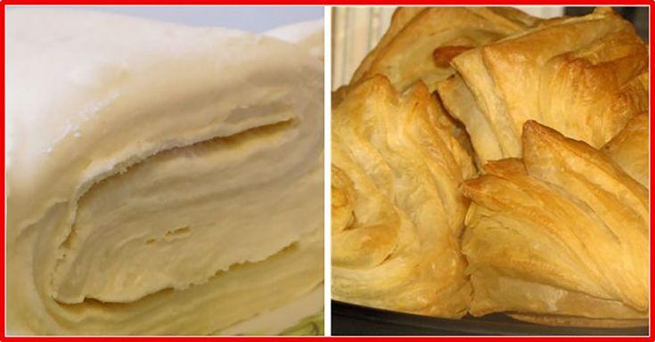 Rețeta rapidă de aluat foietaj. Aluatul este gustos și aerat, ideal pentru o mulțime de deserturi! - Bucatarul
