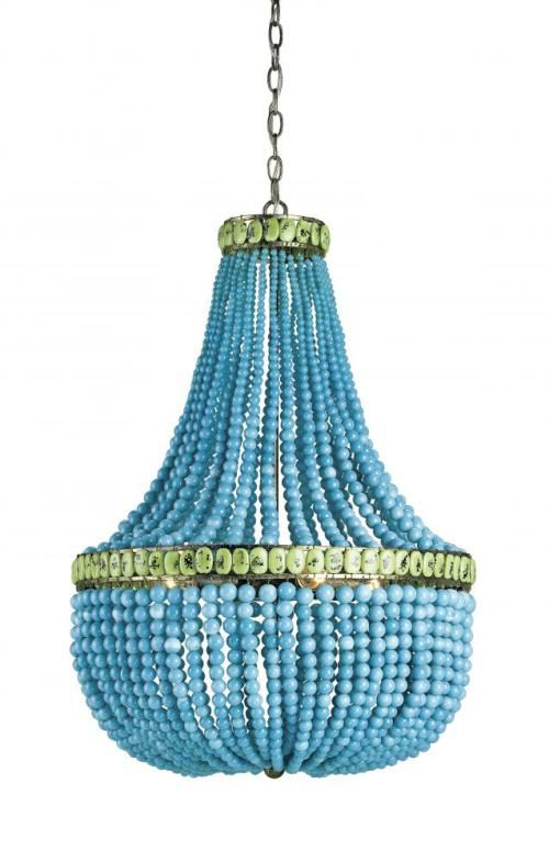 Currey And Company Lighting Modern Chandelier In Pyrite Bronze Turquoise Jade Finish