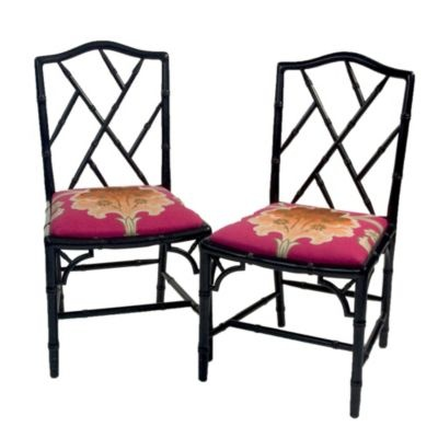 Charming Chinese Chippendale Chairs Vintage, 1980s Ideas