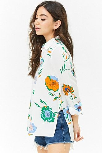 2cff998277 Floral Button Top | Products | Floral tops, Fashion, Forever 21