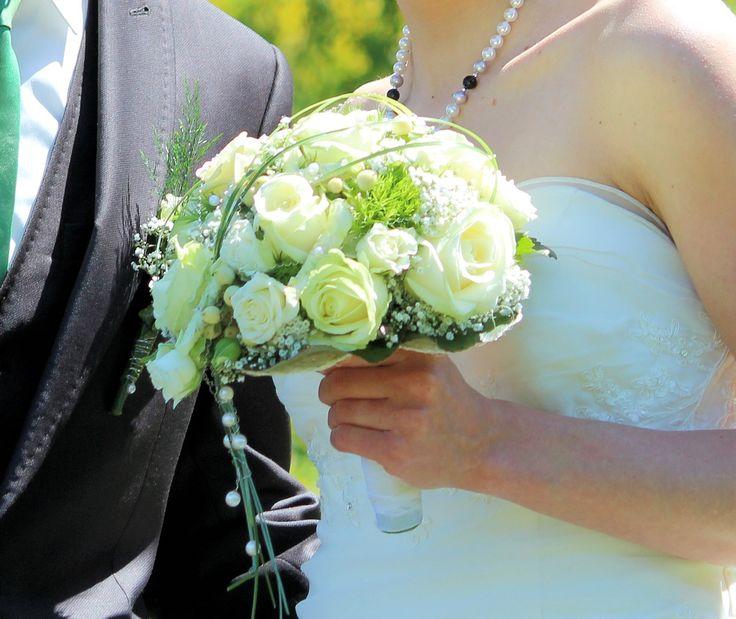 Kathrins Brautstrauß, den ich gefangen habe. :)