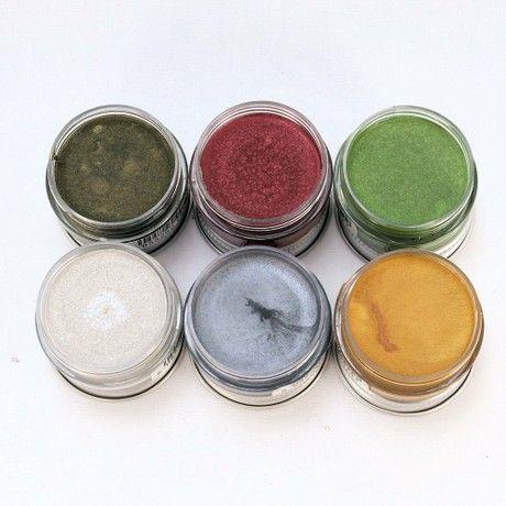 Creative Expressions Metallic Gilding Wax Set Festive Colours 6 x 10ml Pots