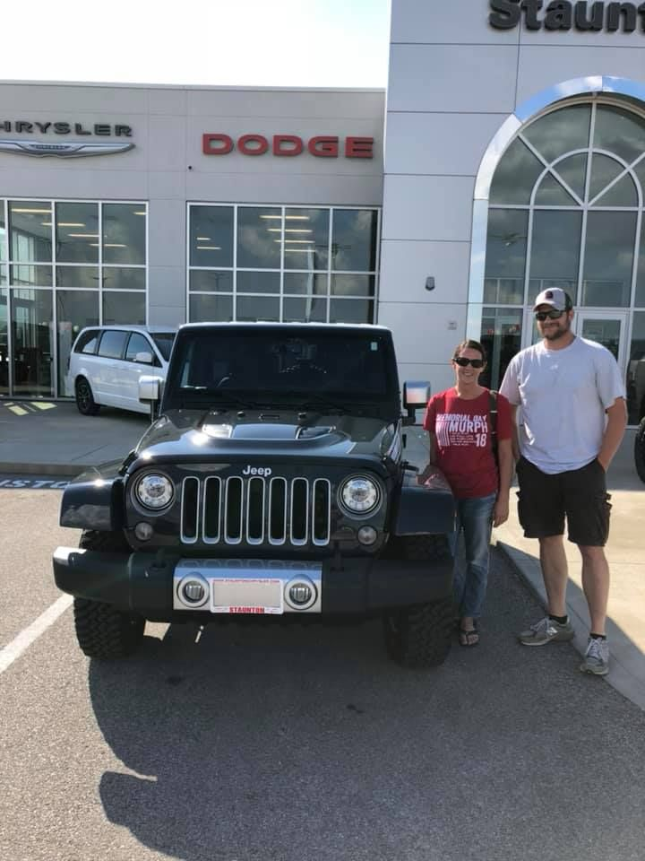 Congratulations To Jamie And Brandon On Your Jeep Wrangler Drive