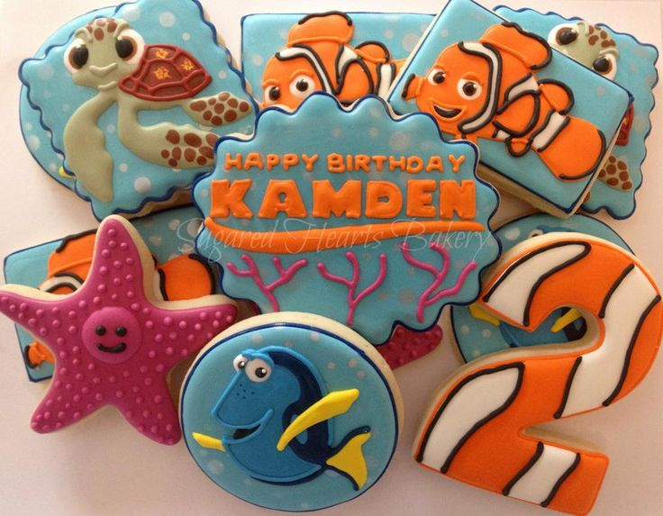 Finding Nemo cookies https://www.facebook.com/SugaredHeartsBakery