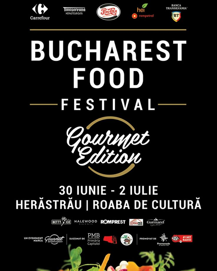 Adevaratii gurmanzi si pasionati de gastronomie vin la Bucharest Food Festival - Gourmet Edition, din 30 Iunie pana in 2 Iulie in HERASTRAU - Roaba de Cultura.  Te asteapta show-uri de live cooking, workshopuri culinare, degustari de vinuri, muzica live, dar si diferite activitati, precum Kids Corner, unde vor exista si ateliere de gatit pentru copii.  #BucharestFoodFestival #GourmetEdition  #LiveCooking #Workshopuri #MuzicaLive #KidsCorner #DegustariVinuri #Herastrau #RoabadeCultura