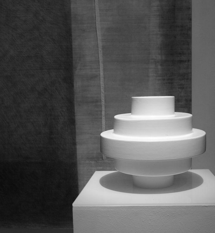 Montèe bianco/ vaso in ceramica