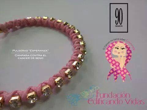 Ayuda a la Fundación Edificando Vidas comprando estas pulseras hechas en SWAROVSKI y baño de oro por $40.00 en 90 GRADOS.