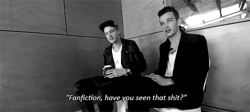 Haha. Matty is NOT impressed with fanfiction!! :)