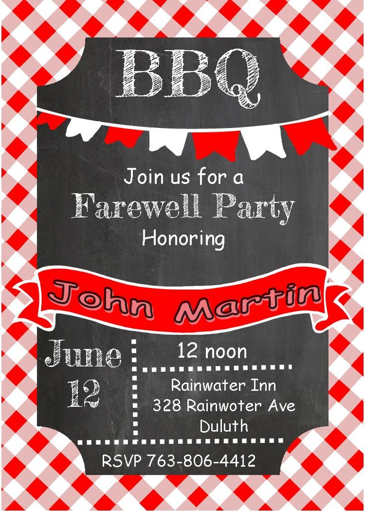 10 best invitations images on Pinterest Going away party - farewell invitation template