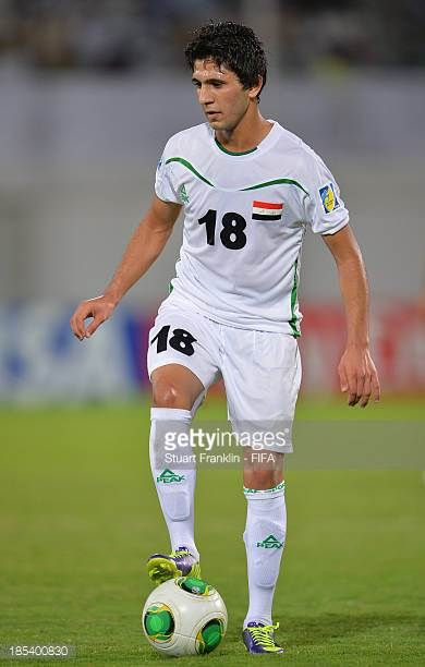 Samer Majid of Iraq in action during the FIFA U17 World Cup group F match between Iraq and Sweden at Khalifa Bin Zayed Stadium on October 19 2013 in...