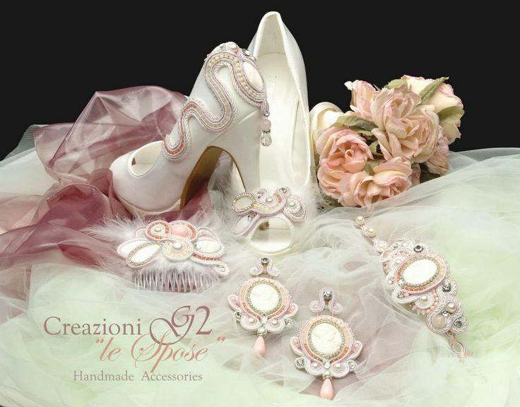#soutache, #sposa, #orecchini, #fermaglio, #scarpe, #bracciale, #collana