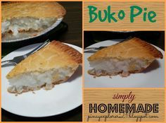 The Sweet Cuisinera: Buko Pie Recipe