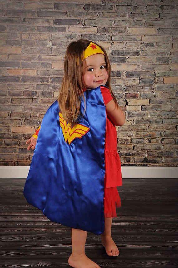 Wee Wonder Woman. | 24 Badass Halloween Costumes To Empower Little Girls