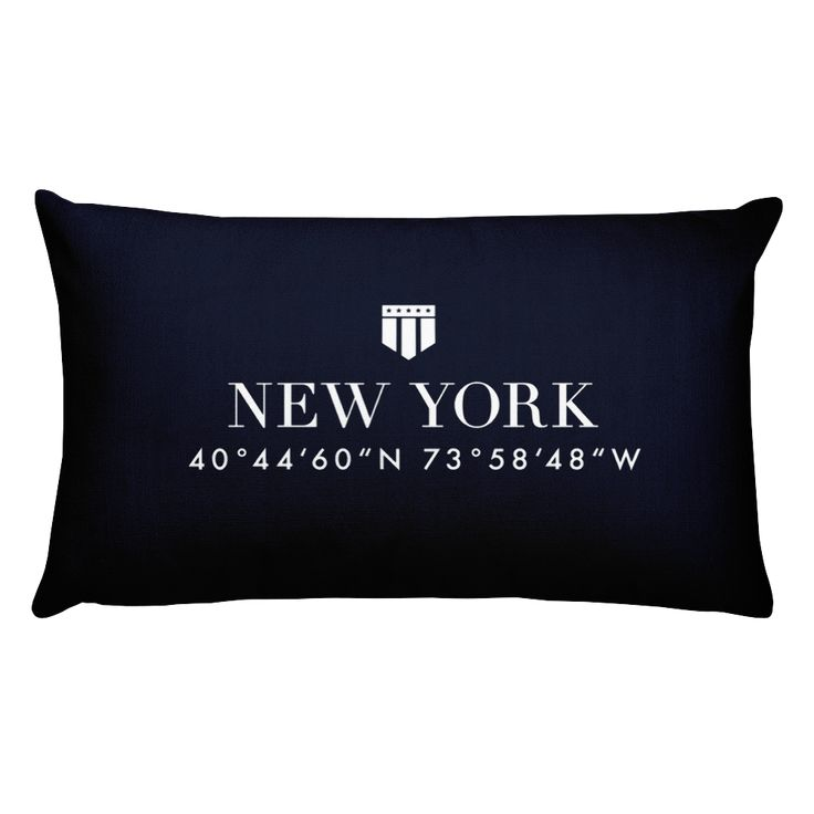 New York Pillow with Coordinates