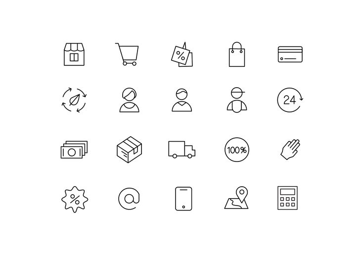 """Icons """"Store"""""""