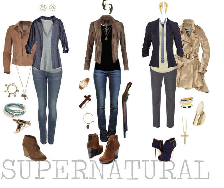 Supernatural - Polyvore. Just the first two outfits.