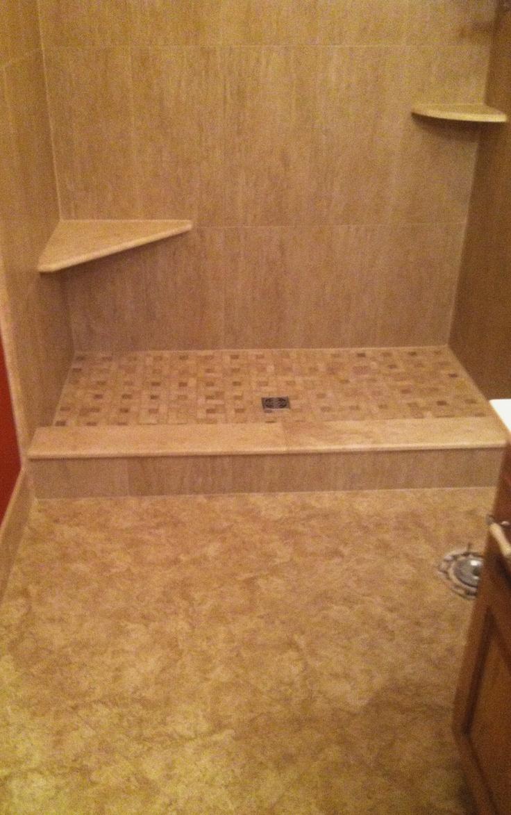 99 best bathroom floor tile images on pinterest showers shower and bathroom floor tile by link renovations dailygadgetfo Images