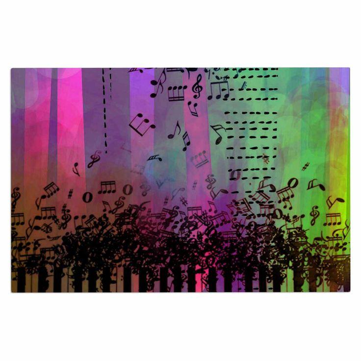 "alyZen Moonshadow ""A GRAND DELUGE (PURPLE)"" Music Multicolor Decorative Door Mat"