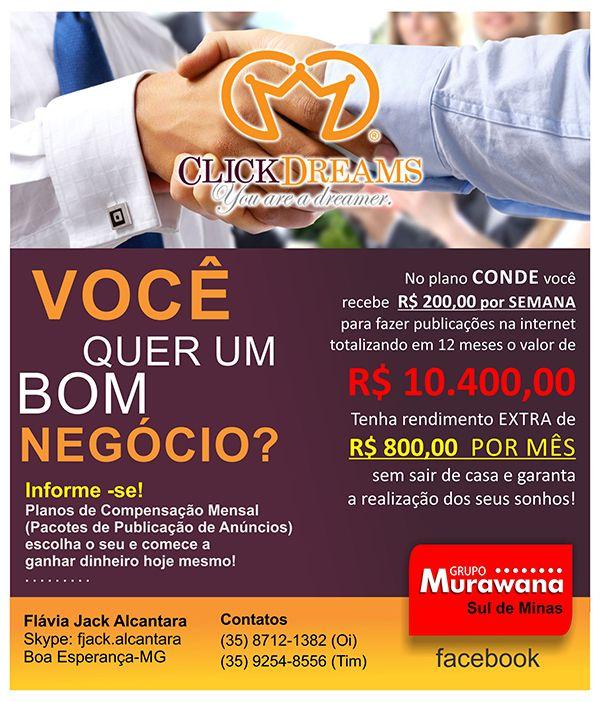 Ganhe R$ 800,00 EXTRAS por mês com publicidade digital, saiba como!  (35) 8712-1382
