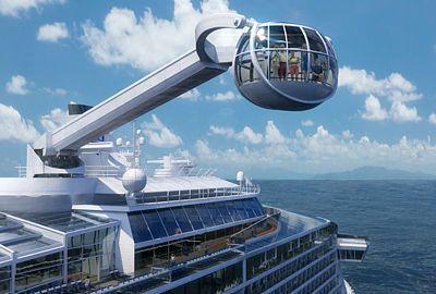 Vyhlídková kabina na otáčivém rameni zajistí cestovatelům nezapomenutelný zážitek z plavby.Nová výletní loď uveze celkově až 4905 pasažérů. Na délku bude měřit 348 metrů, do šířky 41 metrů. Mezi turistická lákadla lze zařadit kromě vyhlídkové kabiny The North Star také místnost, kde si hosté budou moci vyzkoušet simulovaný parašutistický skok.
