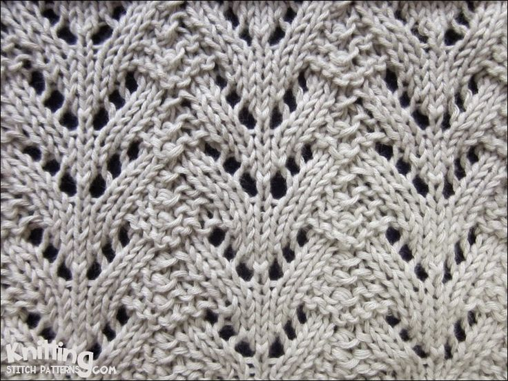 "#Knitting_Stitches - ""Norwegian Fir Lace is so beautiful and not too difficult. It's an 8 row pattern with all even numbered rows purled, so there are just 4 rows of pattern to learn. I'll be making a scarf with this soon."" Enjoy your knitting from #KnittingGuru"