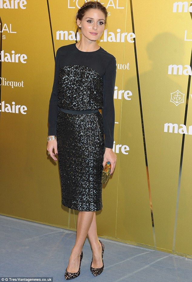 Icon of style: Olivia Palermo arrives at the Marie Claire Fashion Prix Awards in Madrid
