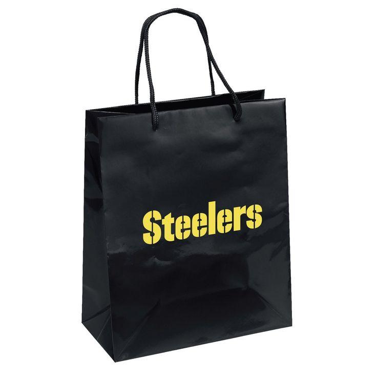 Pittsburgh Steelers Gift Bag Elegant Foil Style