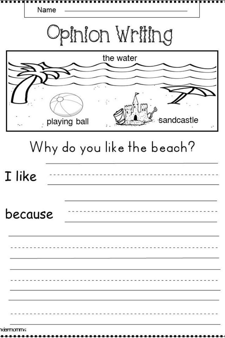Free Summer Opinion Writing Kindermomma Com Opinion Writing Summer Writing Word Family Worksheets [ 1104 x 736 Pixel ]
