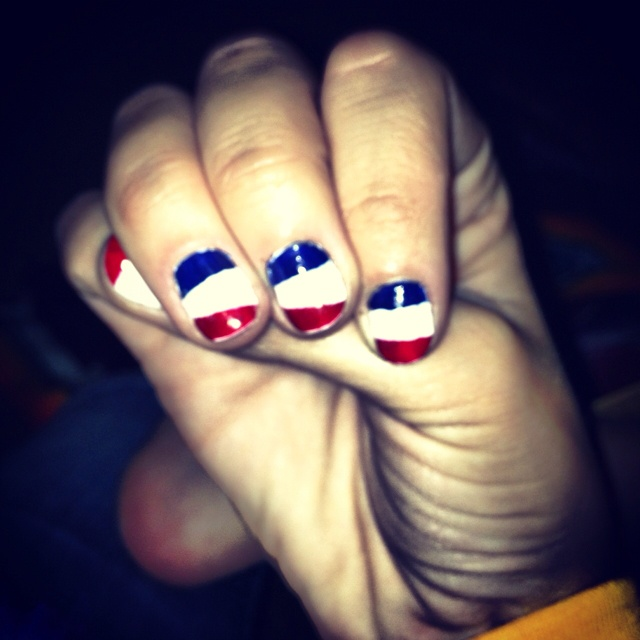 easy to do fourth of july nails